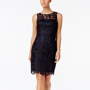 Adrianna Papell | All Over Lace Fitting Dress